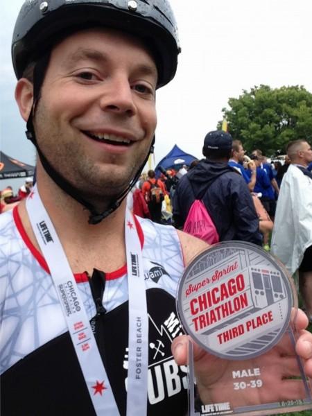 Third Place - 2015 Chicago Triathlon SuperSprint